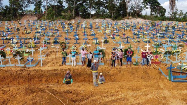 Brasil rebasa las 550 mil muertes por COVID-19