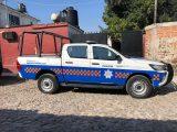 Derivado de un reporte al número único de emergencias 911, oficiales de policía adscritos a la Secretaría de Seguridad Pública Municipal de San Juan del Río